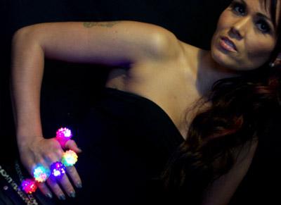 spikey flashing led light rings