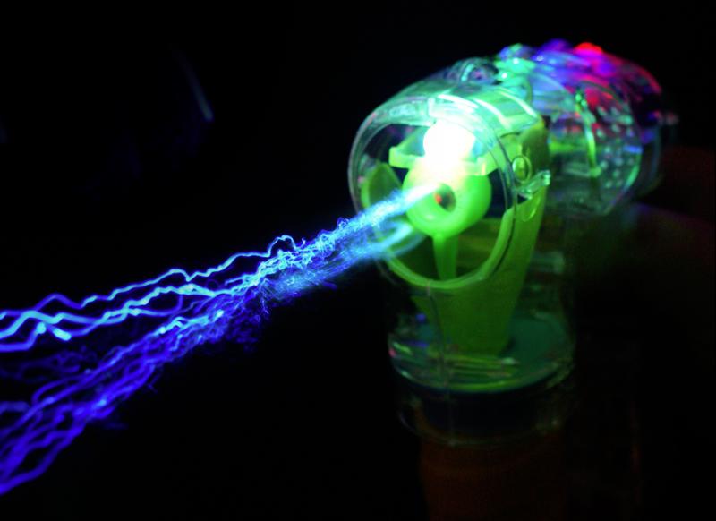 light-up bubble gun