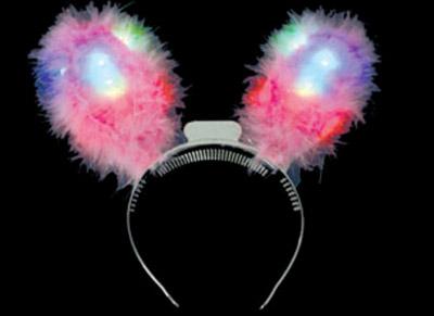 light up bunny rabbit ear headbopper