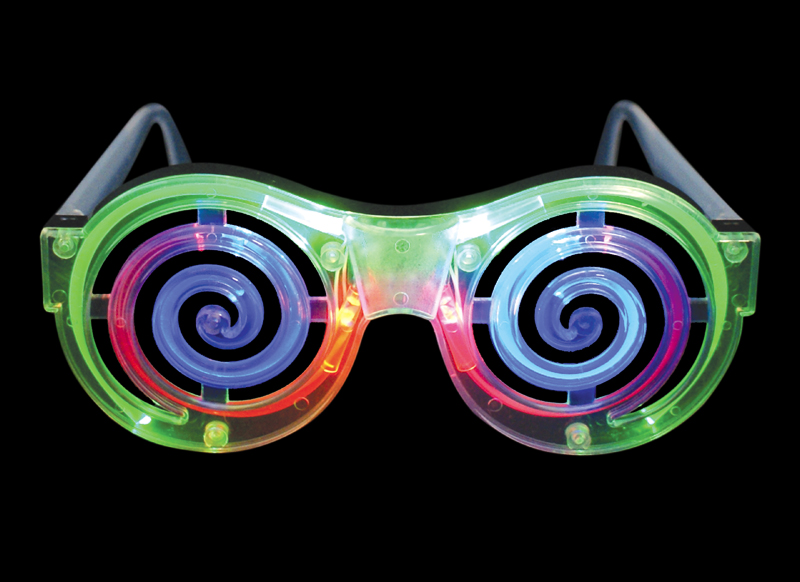 spiral light-up glasses - crazy eye sunglasses