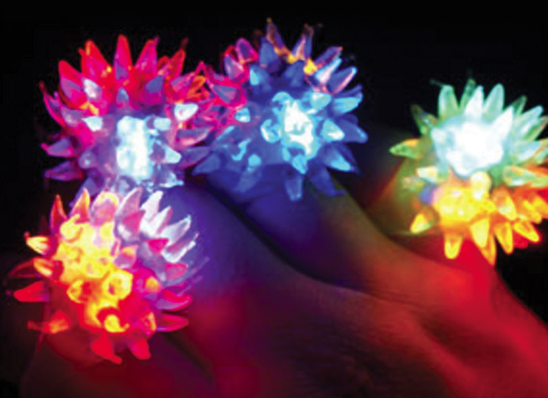 crystal star ring - multicolour light-up