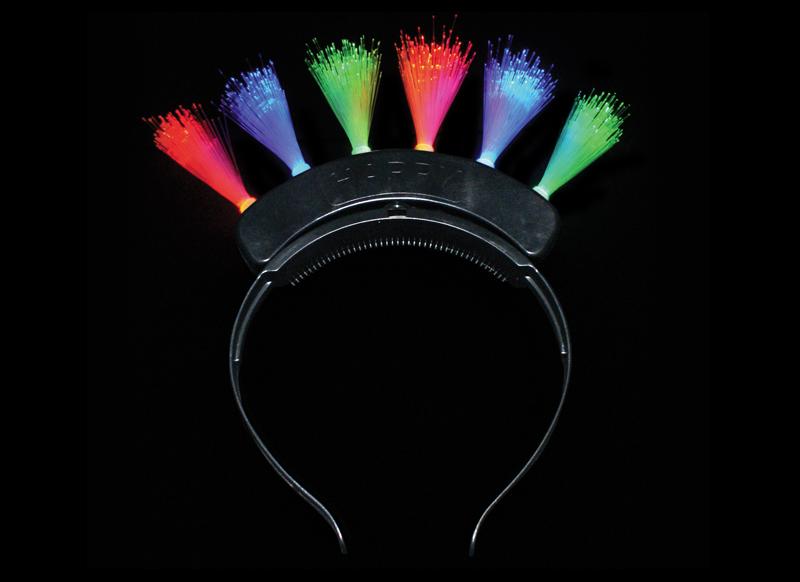 mohawk fibre optic head band