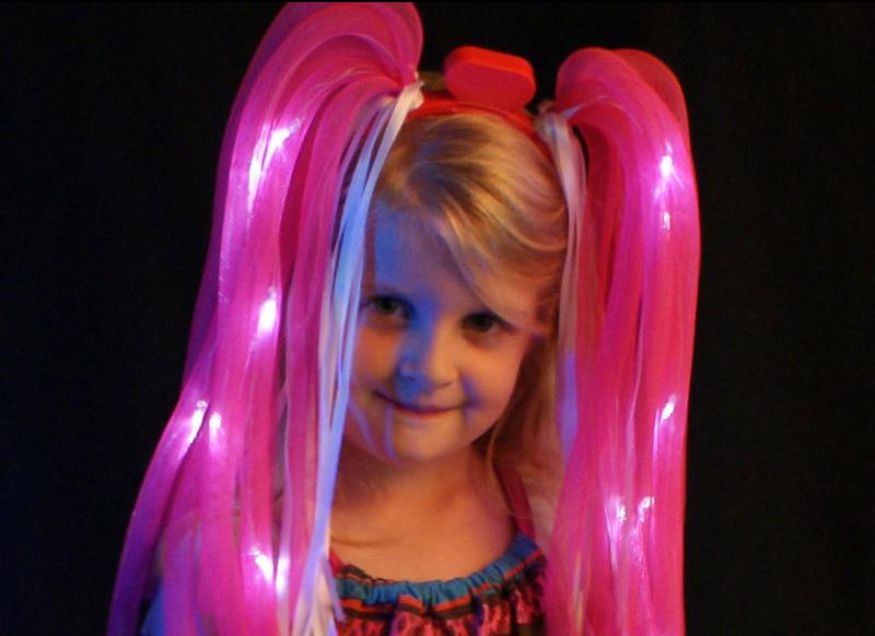 pink led flashing dreadlocks