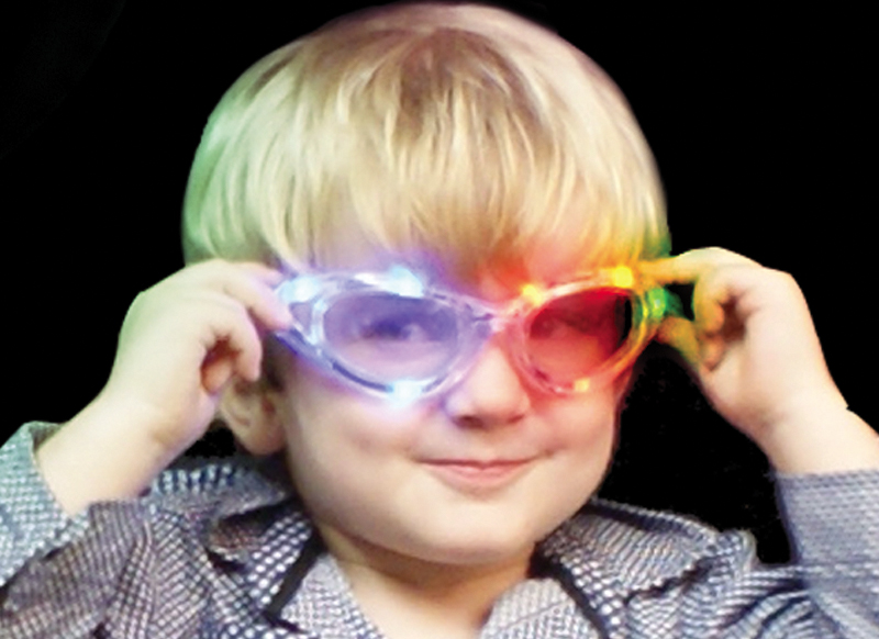 flashing sunglasses - multicoloured led lights