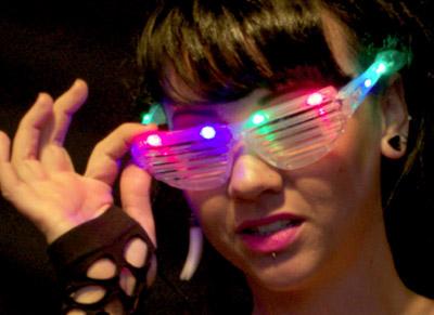 light-up shuttershades - sunglasses