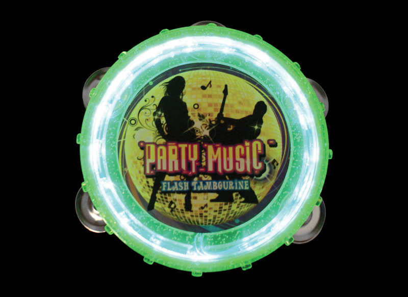 flashing light up tambourine