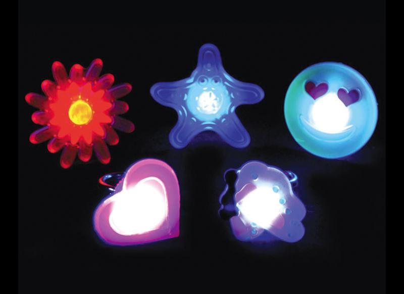 led light-up blinky ring lights