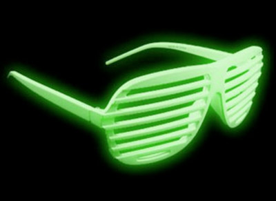 glowing sunglasses - shutter shades