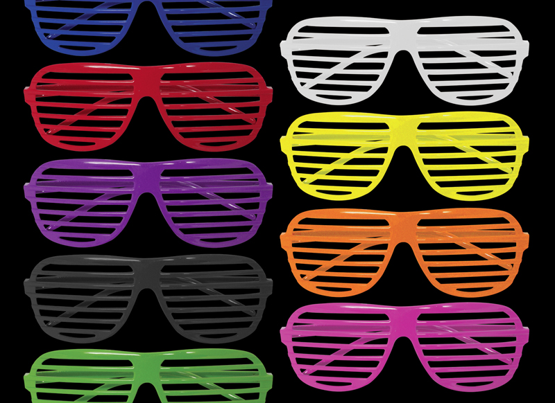 shutter shades - kanye west style, blue, white, red, pink, purple, yellow, black, green, orange