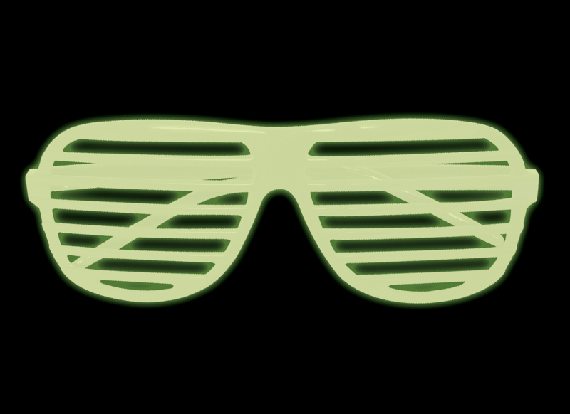 glow in the dark shutter shades - kanye west style