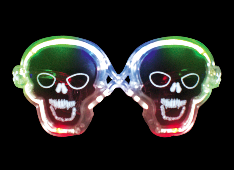 flashing skull glasses - halloween sunglasses