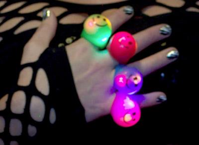 led light-up smiley face rings