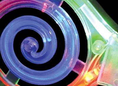 led spiral sunglasses